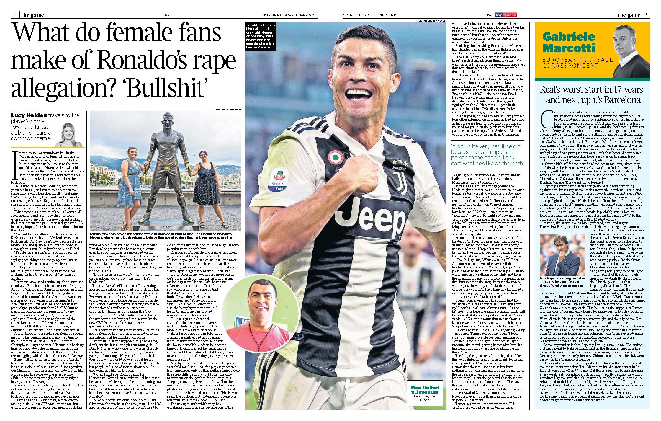 Ronaldo The Times